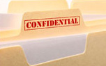 file folder stamped 'confidential'