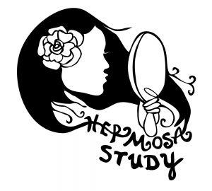 Logo for HERMOSA project, a drawing of a young woman's silouette