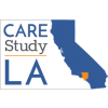 CARE LA Study logo, showing California in blue with Los Angeles County in orange