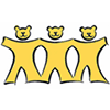 California Childhood Leukemia Study (CCLS) Thumbnail logo shows three young bears in yellow color standing in a row holding hands