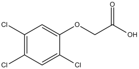 Black and white chemical structure of 2,4,5-T