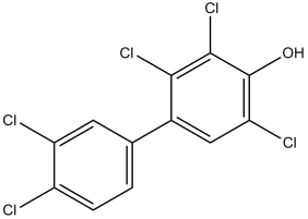 Structure of an hydroxy-PCB- 4-OH-PCB107