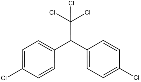 Structure of DDT, an organochlorine pesticide