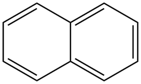 Structure of naphthalene, a PAH