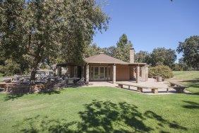 View of Putah Creek Lodge, UC Davis