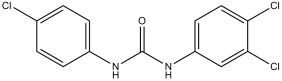 Structure of triclocarban