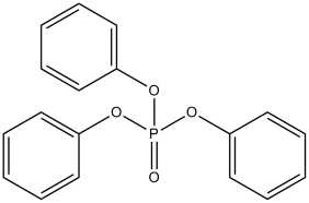 Example of a non-halogenated aromatic phosphate- Triphenyl phosphate
