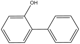 Structure of o-phenylphenol